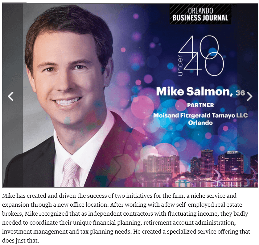 Mike Salmon 40 under 40
