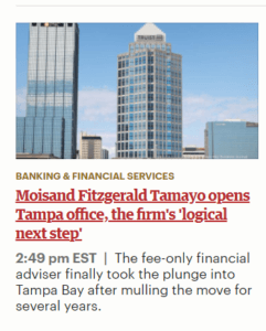 Top financial advisor Tampa